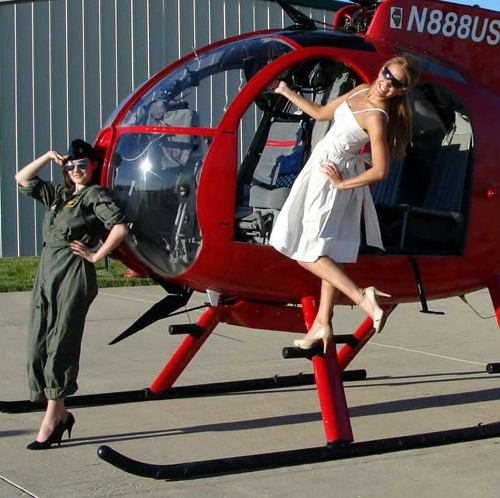Movie and commerical photoshoots with Helicopters